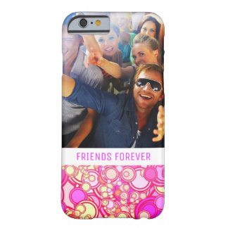 Custom Photo & Text Retro Circles Barely There iPhone 6 Case