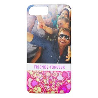 Custom Photo & Text Retro Circles iPhone 8 Plus/7 Plus Case
