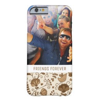 Custom Photo & Text Retro floral pattern Barely There iPhone 6 Case