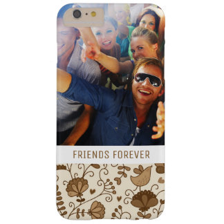 Custom Photo & Text Retro floral pattern Barely There iPhone 6 Plus Case