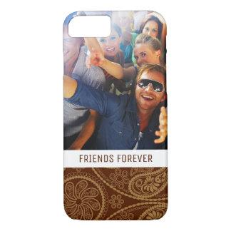 Custom Photo & Text Retro mandala pattern iPhone 8/7 Case