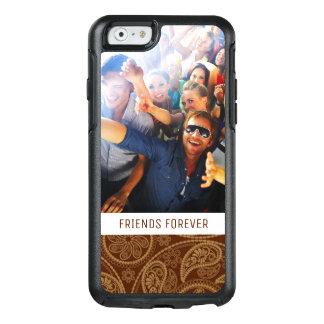 Custom Photo & Text Retro mandala pattern OtterBox iPhone 6/6s Case
