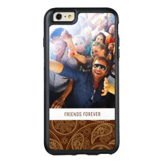 Custom Photo & Text Retro mandala pattern OtterBox iPhone 6/6s Plus Case