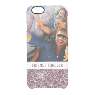 Custom Photo & Text Retro pattern Clear iPhone 6/6S Case