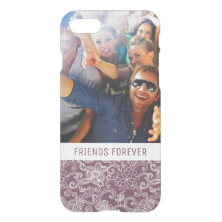 Custom Photo & Text Retro pattern iPhone 8/7 Case