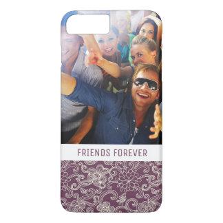 Custom Photo & Text Retro pattern iPhone 8 Plus/7 Plus Case