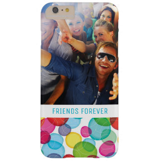 Custom Photo & Text Round bubbles kids pattern 2 Barely There iPhone 6 Plus Case