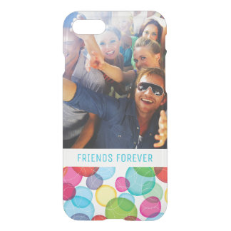 Custom Photo & Text Round bubbles kids pattern 2 iPhone 8/7 Case