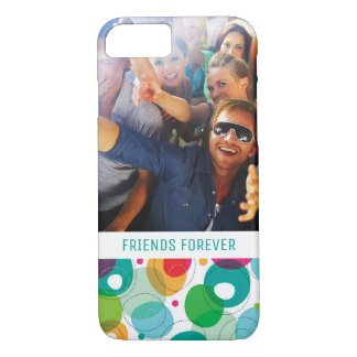 Custom Photo & Text Round bubbles kids pattern iPhone 8/7 Case