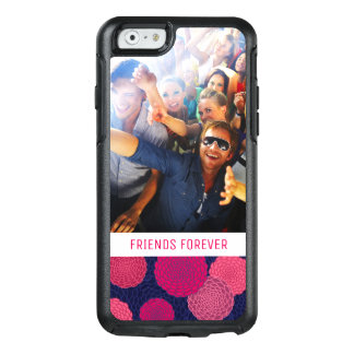 Custom Photo & Text Round flowers pattern OtterBox iPhone 6/6s Case