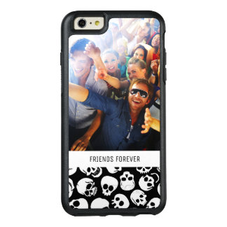 Custom Photo & Text Skulls in Black Pattern OtterBox iPhone 6/6s Plus Case