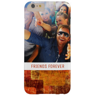 Custom Photo & Text Squares on grunge wall Barely There iPhone 6 Plus Case