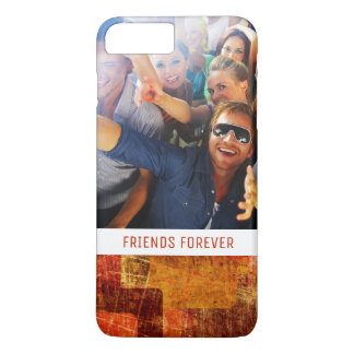 Custom Photo & Text Squares on grunge wall iPhone 8 Plus/7 Plus Case