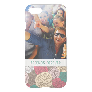 Custom Photo & Text Stylish floral pattern iPhone 8/7 Case