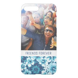 Custom Photo & Text Surf Floral Hibiscus Pattern iPhone 8 Plus/7 Plus Case