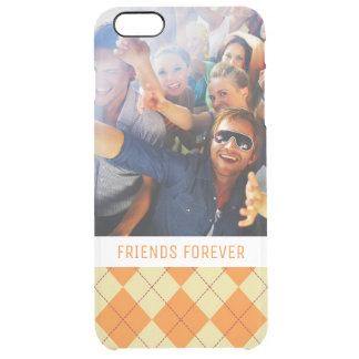 Custom Photo & Text Sweater Background Clear iPhone 6 Plus Case