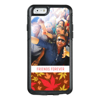 Custom Photo & Text with colorful Autumn Leaves OtterBox iPhone 6/6s Case