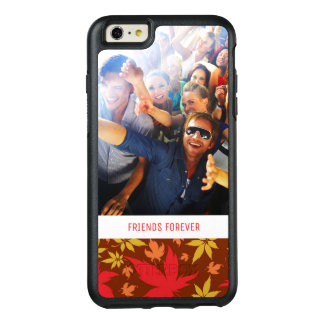 Custom Photo & Text with colorful Autumn Leaves OtterBox iPhone 6/6s Plus Case