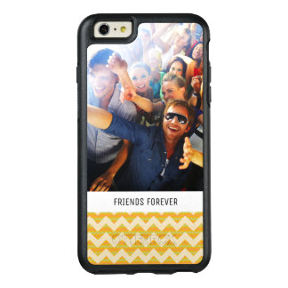 Custom Photo & Text Yellow chevron pattern OtterBox iPhone 6/6s Plus Case