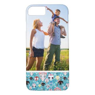Custom Photo Texture laughing skull iPhone 8/7 Case