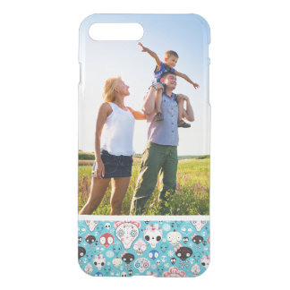 Custom Photo Texture laughing skull iPhone 8 Plus/7 Plus Case