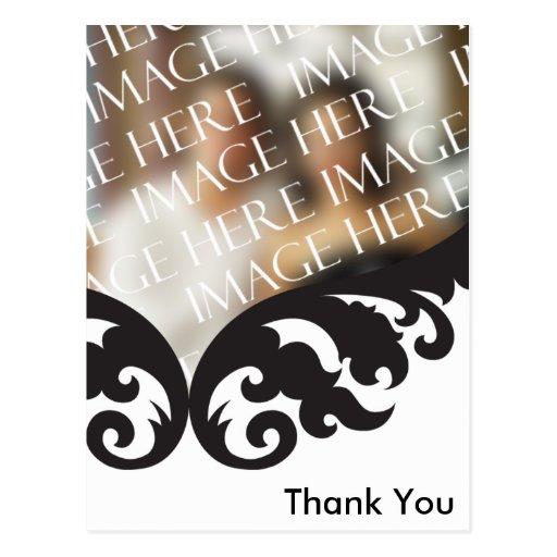Custom Photo Thank You Card After Wedding Postcard