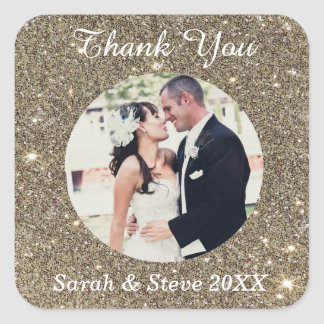 Custom Photo Thank You Stickers