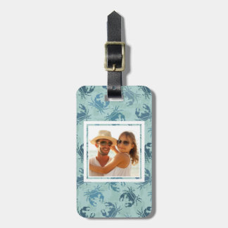 Custom Photo Tie Dye Pattern Of Crabs Luggage Tag