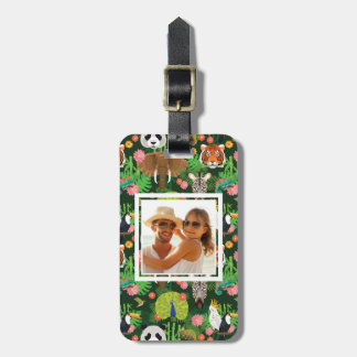 Custom Photo Tropical Animal Mix Luggage Tag