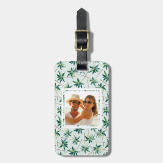 Custom Photo Tropical Australian Foxtail Palm Luggage Tag