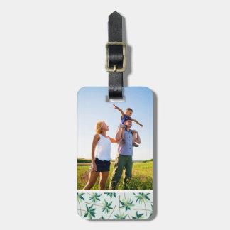 Custom Photo Tropical Australian Foxtail Palm Luggage Tag