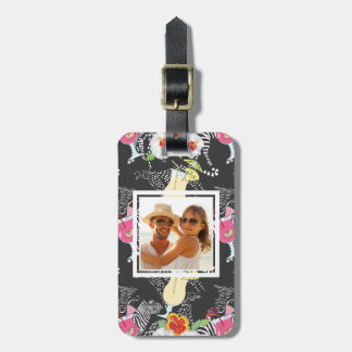 Custom Photo Tropical Drinks With Animals Luggage Tag