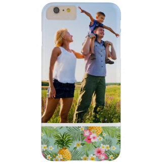 Custom Photo Tropical Flowers & Pineapples Barely There iPhone 6 Plus Case