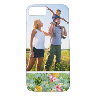 Custom Photo Tropical Flowers & Pineapples iPhone 8/7 Case