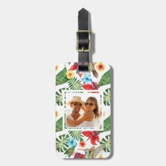 Custom Photo Tropical Hummingbird Luggage Tag