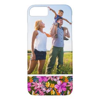 Custom Photo Tropical leaves and flowers iPhone 8/7 Case