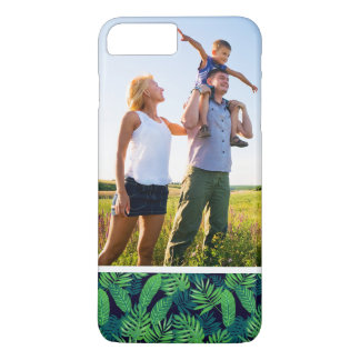 Custom Photo Tropical Leaves Pattern iPhone 8 Plus/7 Plus Case