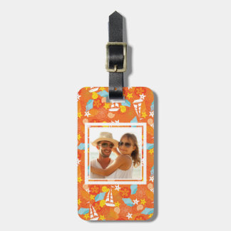 Custom Photo Tropical Sailboat Pattern Luggage Tag