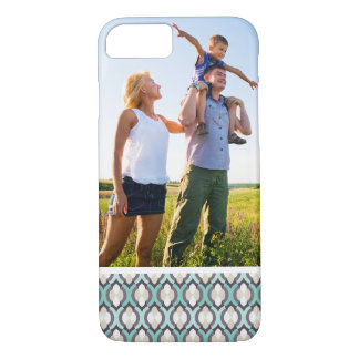 Custom Photo Turquoise Moroccan Pattern iPhone 8/7 Case