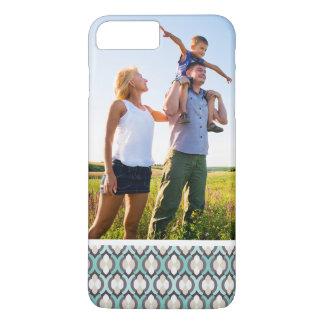 Custom Photo Turquoise Moroccan Pattern iPhone 8 Plus/7 Plus Case