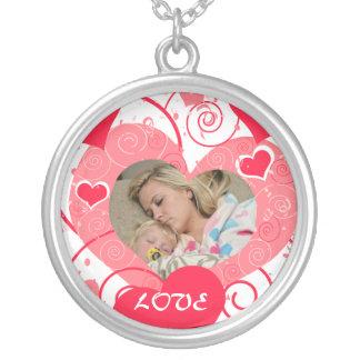 Custom Photo Valentine Heart Keepsake Necklace