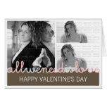 Custom Photo Valentines Greeting Card | Collage