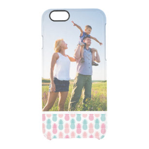 Custom Photo Vintage Pineapple Pattern Clear iPhone 6/6S Case