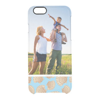 Custom Photo Vintage Seashell Pattern Clear iPhone 6/6S Case