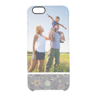 Custom Photo Vintage Wallpaper Pattern Clear iPhone 6/6S Case