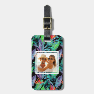 Custom Photo Watercolor Bird Of Paradise Luggage Tag
