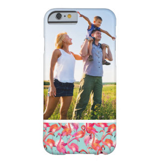 Custom Photo Watercolor Flamingos Gathered Barely There iPhone 6 Case