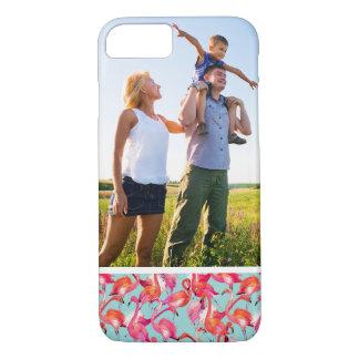 Custom Photo Watercolor Flamingos Gathered iPhone 8/7 Case