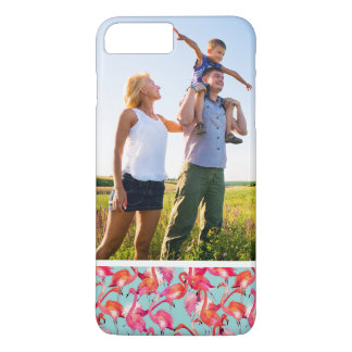 Custom Photo Watercolor Flamingos Gathered iPhone 8 Plus/7 Plus Case