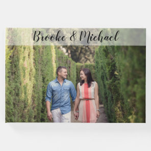 Custom Photo Wedding Guest Book